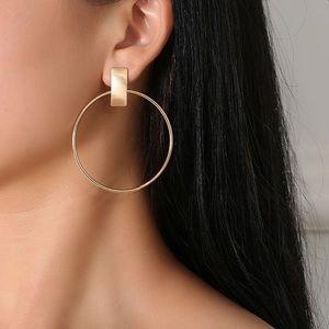 Madewell Minimal Gold Hoop Earrings NIP